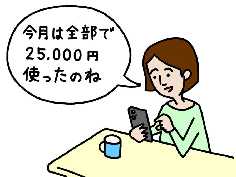 スマホアプリで使用した金額を確認する人