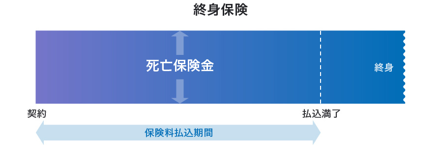 終身保険のイメージ図